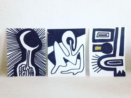 Acrylic on Paper 7x 10 cm